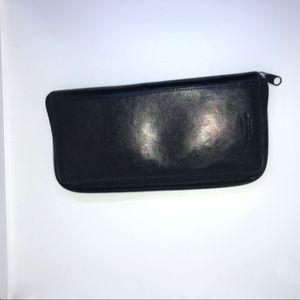 Dopp Leather Travel Wallet Black Vintage